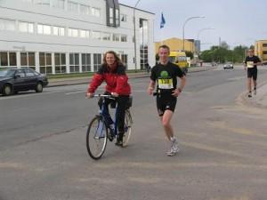 Aarhus Marathon. Har support med.