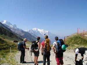 1. Aklimatisering, tilgang fra Col De Balme til Refuge Albert og udsigt mod MontBlanc