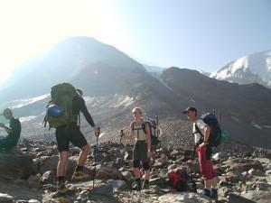 Er vi ikke snart på Mont Blanc toppen.