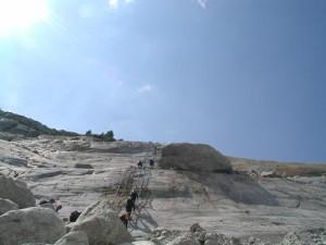Ca. 80 meter stigevæg uhfff... det var faktisk fedt.