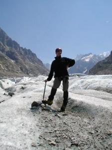 Mig på en Gletsher for første gang..